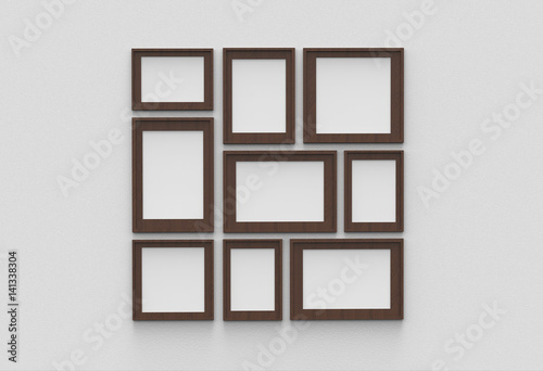 Picture frame isolated on white drywall background - Buy this stock ...