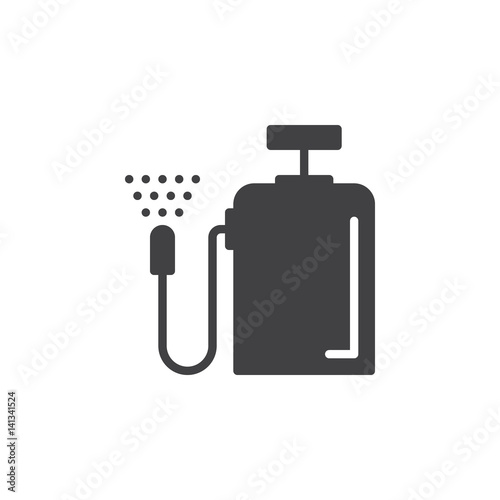 Fotomural Pressure sprayer icon vector, filled flat sign, solid pictogram isolated on white