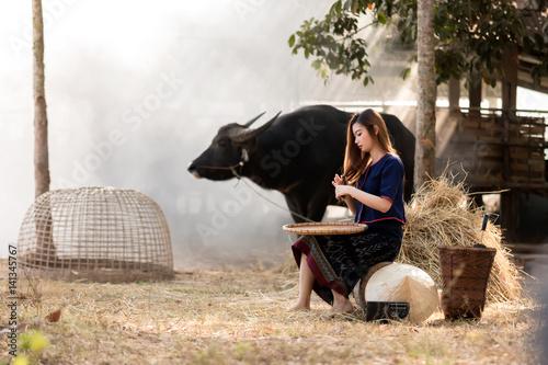 The lives of women in countryside. Tapéta, Fotótapéta
