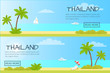 Thailand Touristic Flat Style Vector Web Banner
