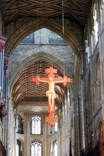 Crucifix Hanging From The Ceil...
