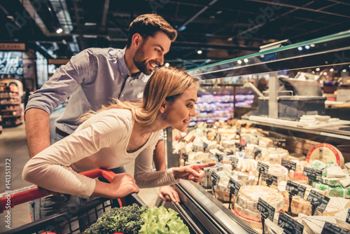 Couple at the supermarket