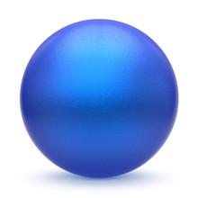 Sphere Round Button Blue Matte...