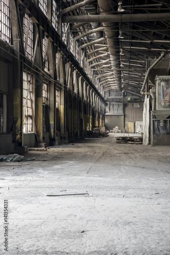 Fotografie, Obraz  Moody Interior of Abandoned, Derelict Foundry in Ohio