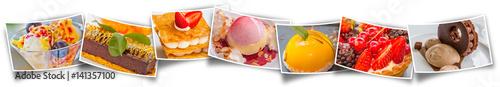 Fotobehang Dessert farandole de desserts