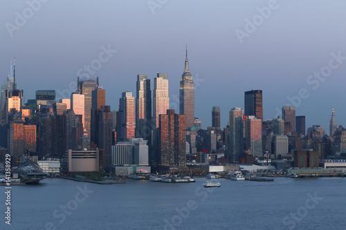 Poster Chicago Manhattan landscape