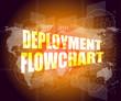 deployment flowchart on business digital touch screen