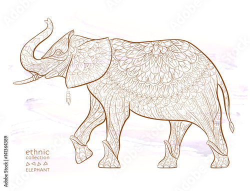 patterned elephant buy this stock vector and explore similar