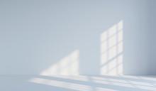 Empty White Minimalist Room. 3d Rendering