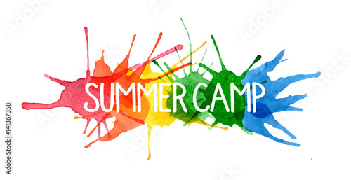 Fotografia, Obraz  SUMMER CAMP on Splashes of Watercolour