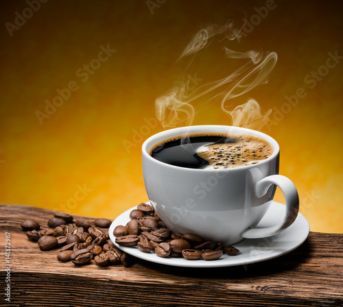 Foto op Canvas Cafe Cup of coffee