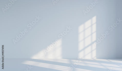 Fotografie, Obraz  Empty white minimalist room. 3d rendering