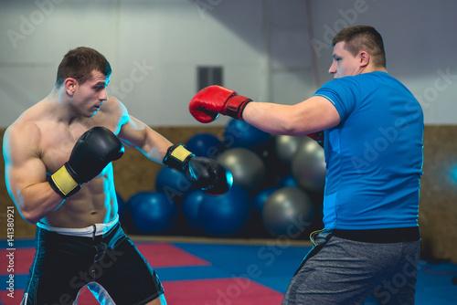 Fotografie, Obraz Two Boxers sparring