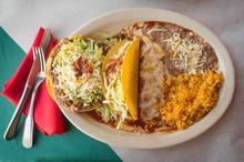 Mexican Taco Enchilada Tostada