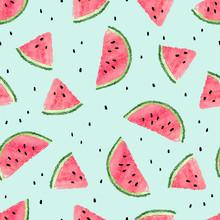 Seamless Watermelon Pattern. V...