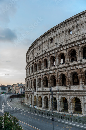 Photo  Ring road and wall of the Colosseum, Rome