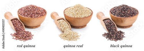 Fotografía  quinoa collection isolated on white background