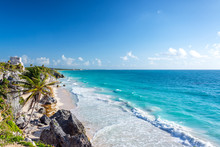 Tulum Ruins And Caribbean Wide...