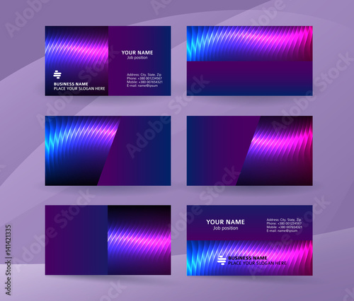 Business Card Background Blue Magenta Neon Effect06 Buy This Stock