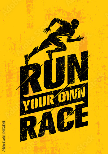 Fotografie, Obraz  Run Your Own Race