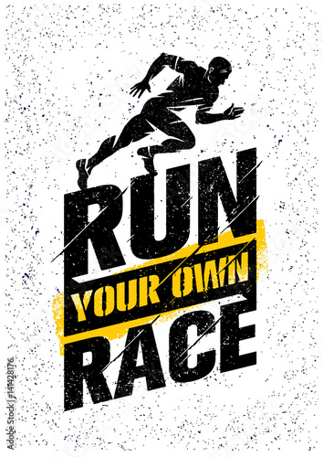 Fotografie, Tablou  Run Your Own Race