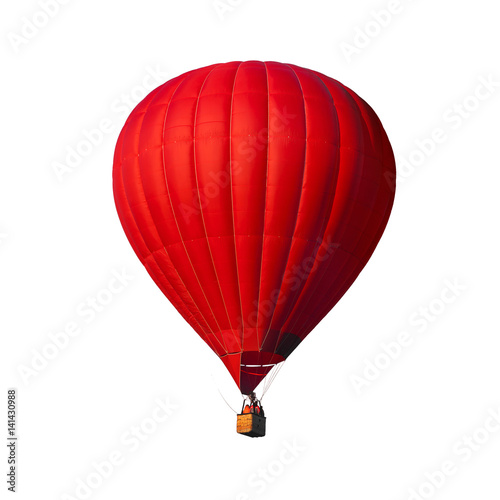 Foto op Plexiglas Ballon Red air balloon isolated on white with alpha channel and work path, perfect for digital composition