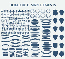 Heraldic Design Elements Set B...