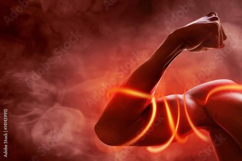 Fotografie, Obraz  Man arm muscle