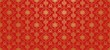 Red background. Chinese and Japanese style. Vector art