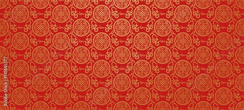Photo  Red background. Chinese and Japanese style. Vector illustration