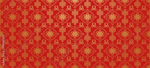 Fototapeta Red background. Chinese and Japanese style. Vector art obraz