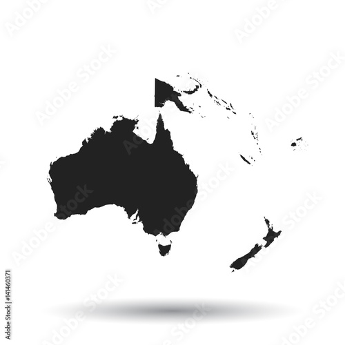 Canvas Print Australia and oceania map icon