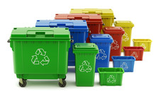 Set Of Colorful Recycle Trash ...
