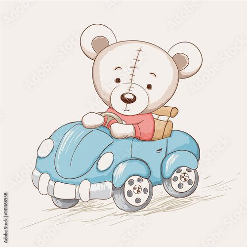 slodki-zabawny-mis-prowadzic-samochod