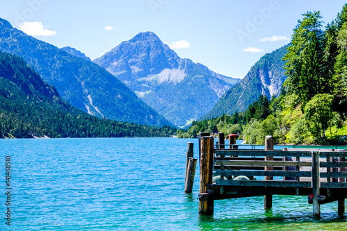 Aluminium Prints Blue plansee in austria
