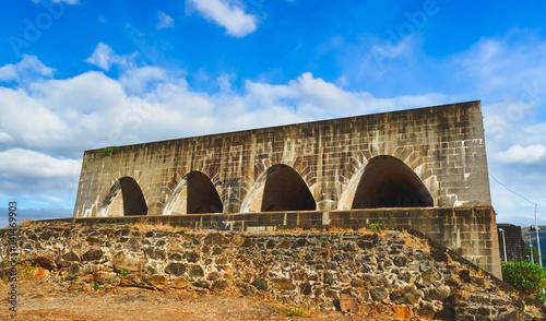 In de dag Vestingwerk Fort Adelaide. Mauritius