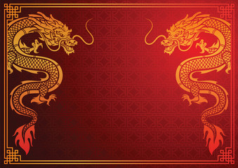 Chinese dragon template