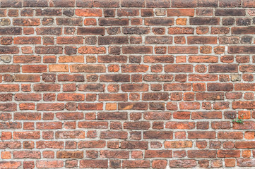 Panel Szklany PodświetlaneOld red brick wall - Vecchio muro di mattoni rossi