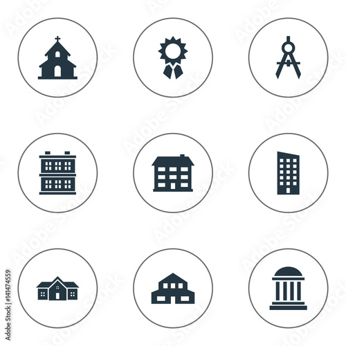 Set Of Simple Structure Icons. Elements