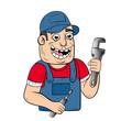 cartoon of a happy worker