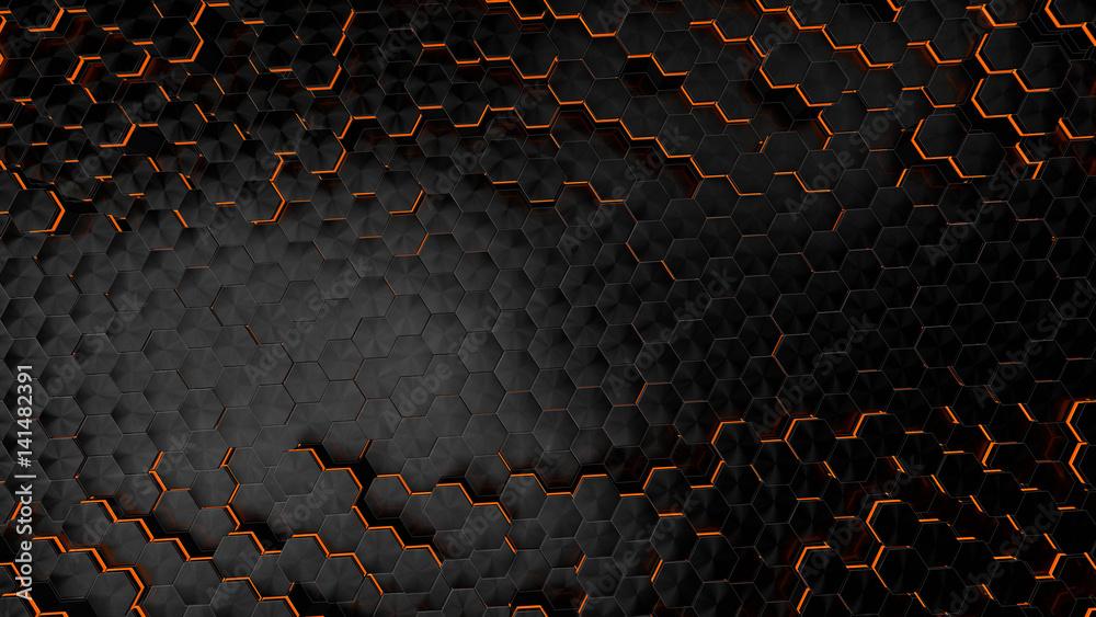 Fototapeta Carbon fiber background