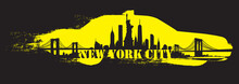 Yellow Cab New York City Skyli...