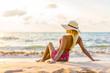 Woman at the beach in Thailand