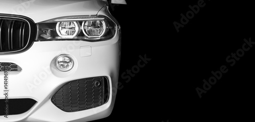 Front View Of Modern Luxury Sport Car White Exterior Buy This