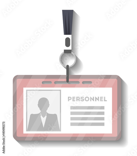 Blank plastic access card with lanyard template vector illustration ...
