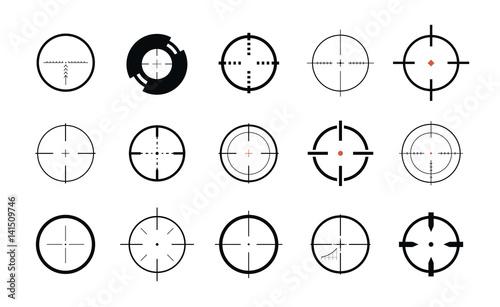 Pinturas sobre lienzo  Sniper sight, symbol