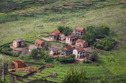 A village in the highlands of Madagascar