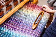 Hand Of A Woman Weaving Woven ...