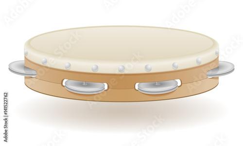 Fotografie, Obraz tambourine musical instruments stock vector illustration