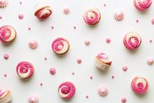 Cupcake Background On White